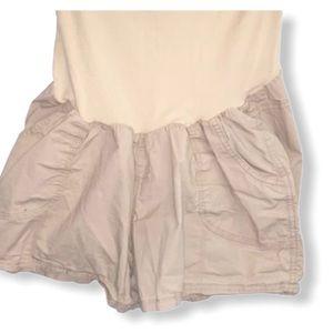 B2-1020_2 Motherhood Maternity Jean Shorts Sz XL